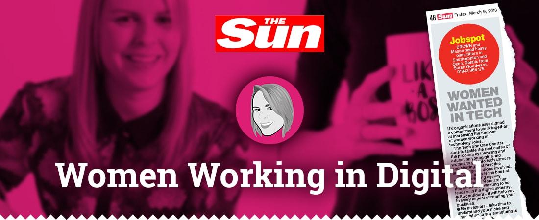 Women working in digital - Mention in The Sun