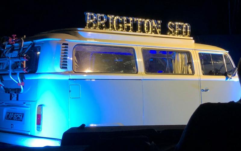 Brighton SEO 2018 camper van