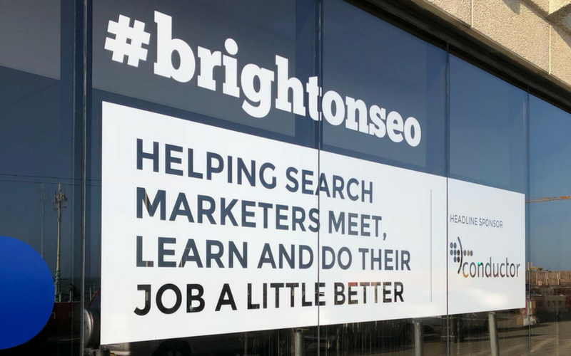 Brighton SEO 2018 sign