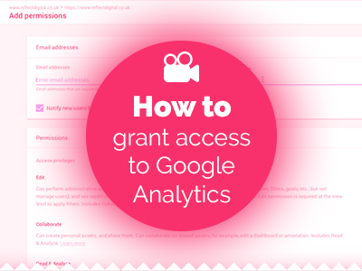 How to grant access to Google Analytics