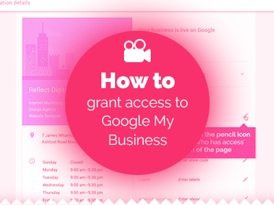 How to grant access to Google My Business