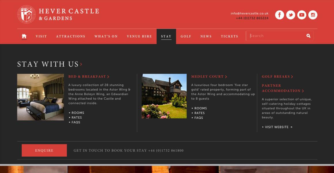 Hever Castle mega menu