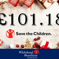 Total Raised for Christmas Jumper Day 2019