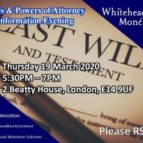 Wills & Powers of Attorney Information Evening