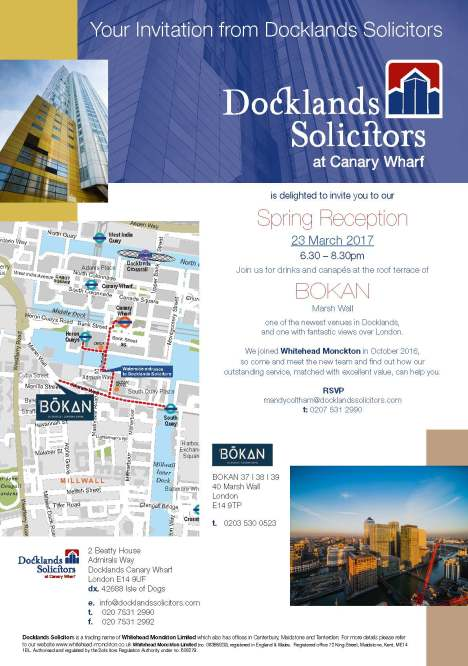 Docklands Launch Party