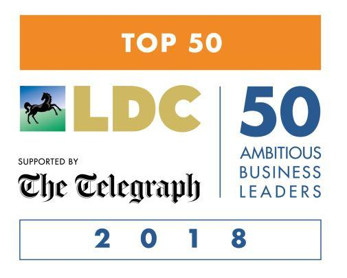 Tony Pepper listed in The LDC Top 50 Most Ambitious Business Leaders 2018