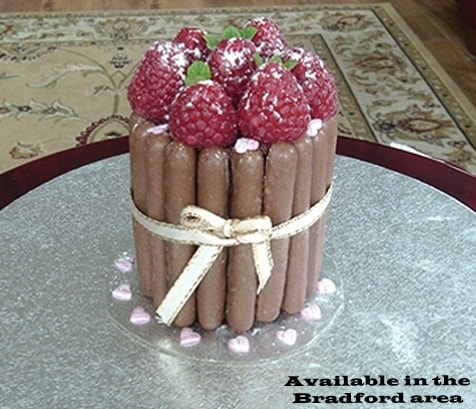 chocolate and strawberry cakes for online delivery around  West Yorkshire, Leeds, Bradford and Huddersfield.