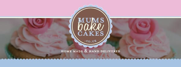mums bake cakes logo with homemade hand delivered written on bottom of logo