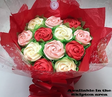 cupcake bouquets, cakes delivered online, around North Yorkshire, Skipton, Ilkley and Keighley