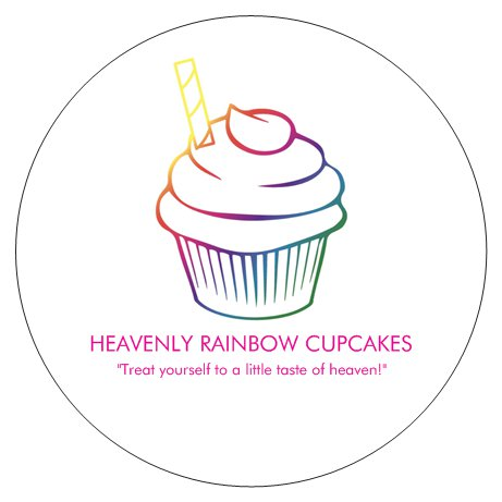 Heavenly Rainbow Cupcakes