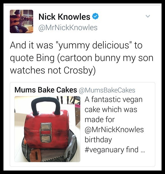 Image of twitter conversation with Nick Knowles