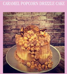 Caramel Popcorn Drizzle Cake