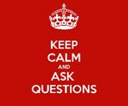 Keep Calm and ask questions logo