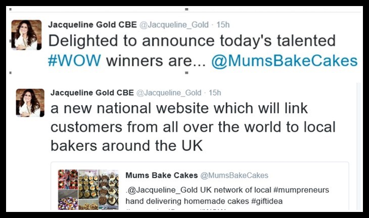 Image of tweet from Jacqueline Gold