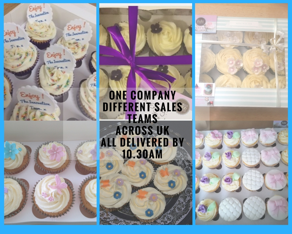 corporate cupcakes with different topping and flavourings