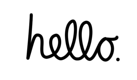 hello written in script writing