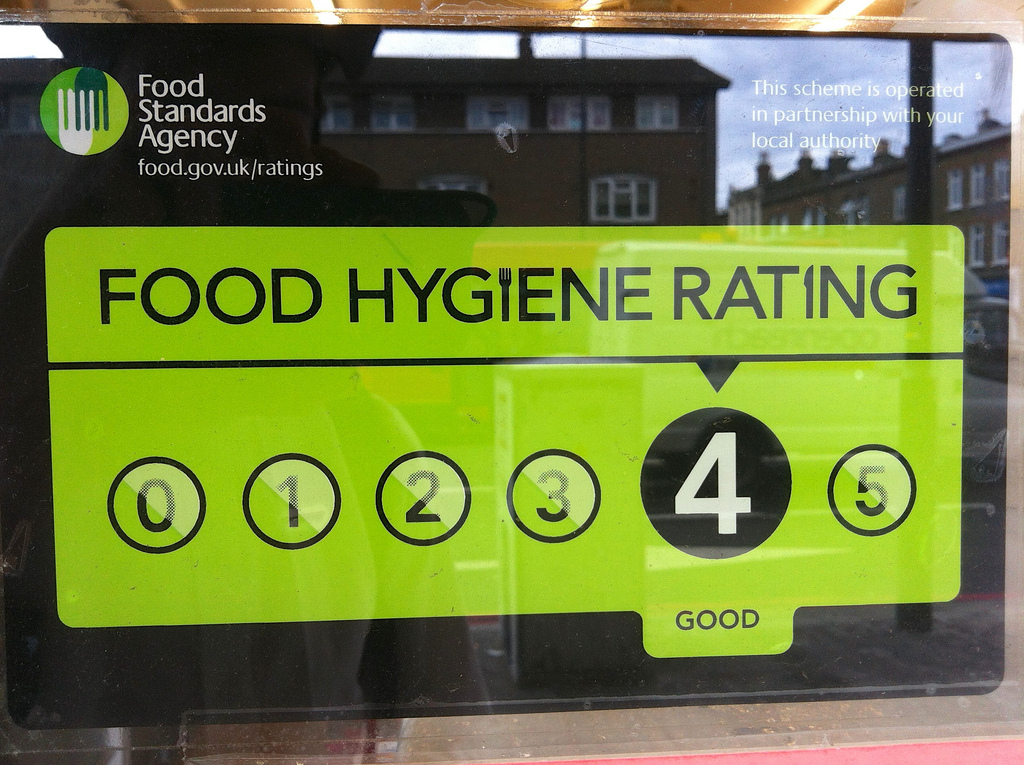 food standards logo showing rating of cake makers websites