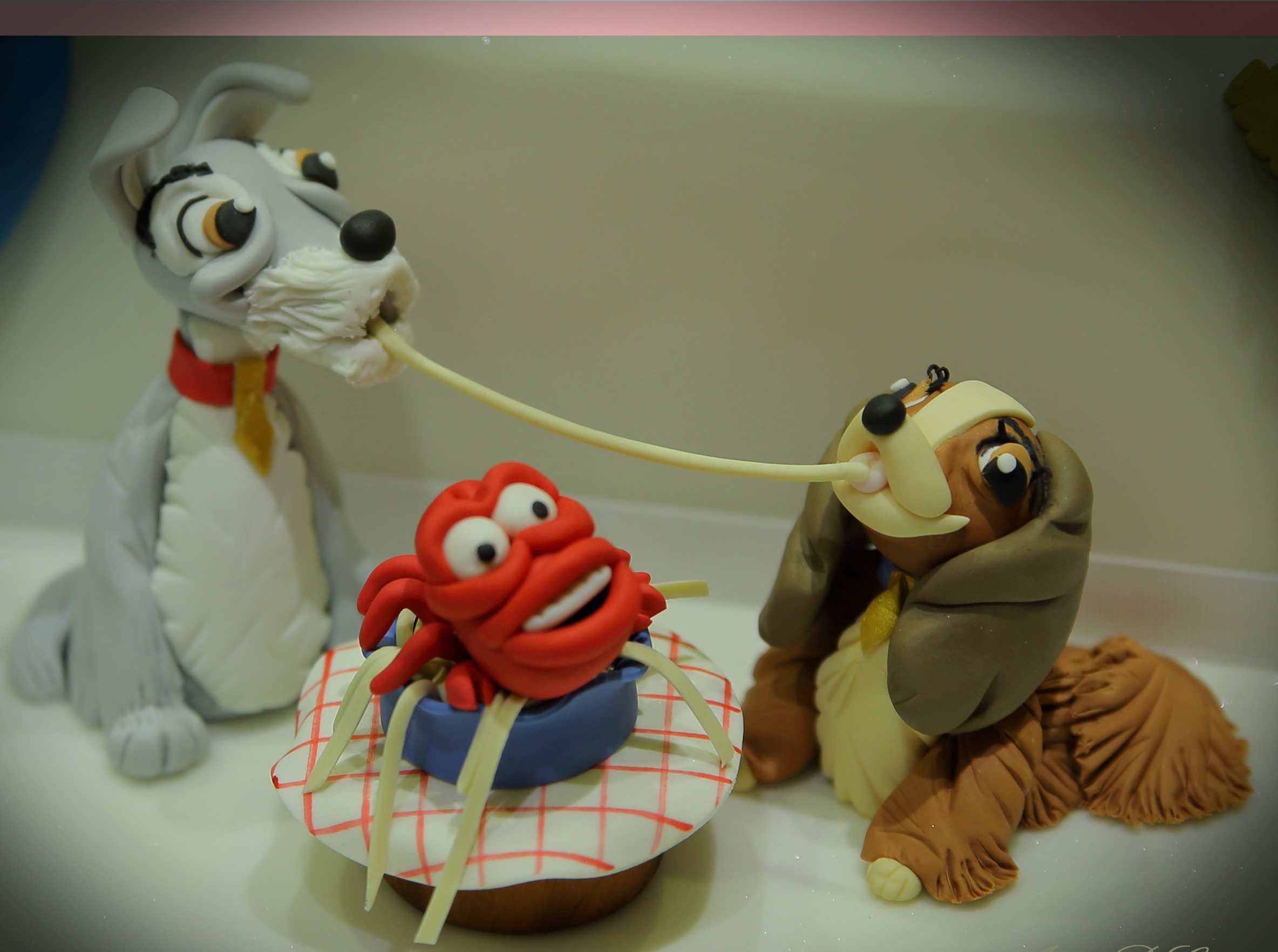 Happy valentines Day cake ideas using lady and the Tramp