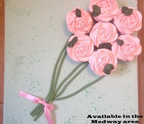 cakes, cupcake bouquet, homemade,  delivered by the baker who made it. ideal for Birthdays,, morthers day and all occasions