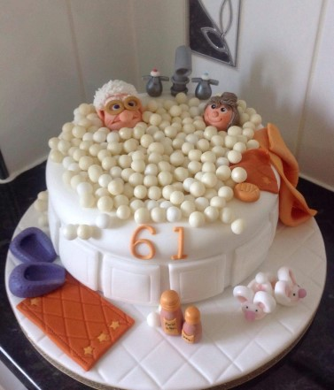 Novelty Cake- in a hot tub