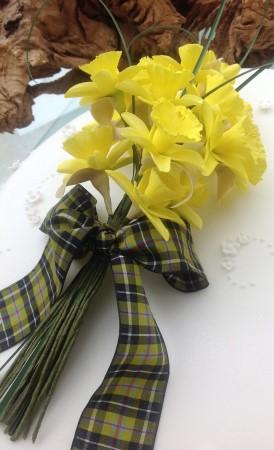 Sugarpaste Daffodils Topper