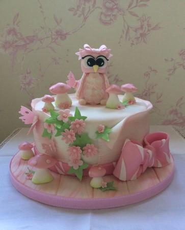 Celebration Cake- with owl
