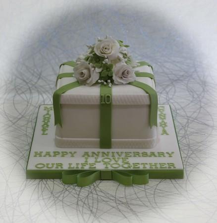 Celebration  Fruit Cake- flowers on top