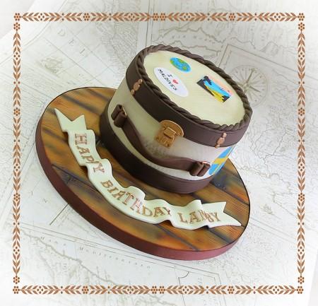 Vintage Suitcase themed Cake