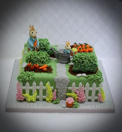 Novelty Cake- garden