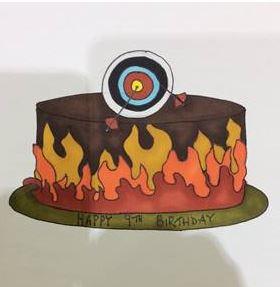 Archery Cake similar to sketch supplied