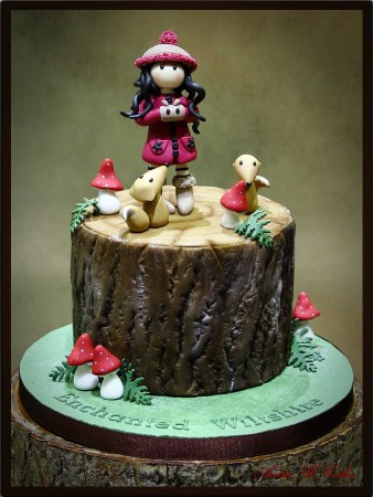 Gorjuss Girl themed cake
