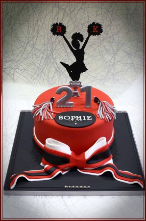 Incredible Cheerleader Cake Anita B Cakes Funny Birthday Cards Online Fluifree Goldxyz