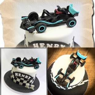 Car on top of cake
