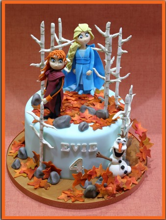Characters with a themed cake