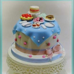 Afternoon Tea themed Cake