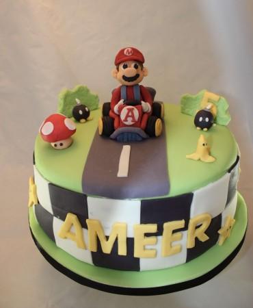 Mario cart cake