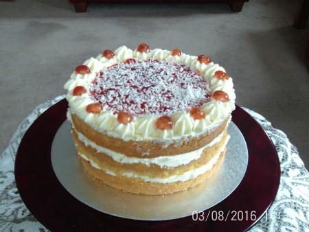 Coconut  maderia cake