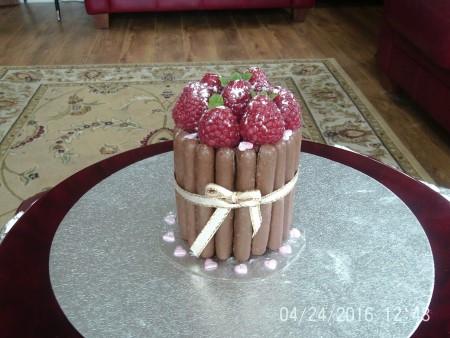Chocolate & raspberry mini gateaux