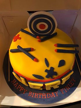 Amazing Nerf Gun Cake Perfect Day Cakes Personalised Birthday Cards Veneteletsinfo
