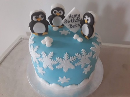 Superb Penguin Birthday Cake Perfect Day Cakes Funny Birthday Cards Online Aeocydamsfinfo