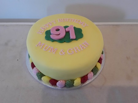 8  inch Iced fruit cake with marzipan