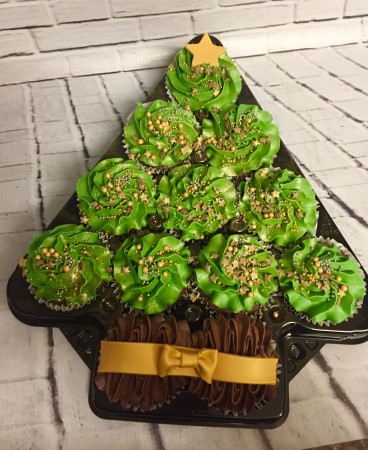 Christmas tree Cupcake gift box