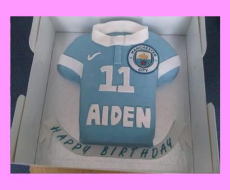 Football shirt cake..Manchester City
