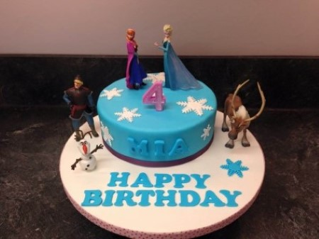 Frozen Inspired Children's Birthday Cake
