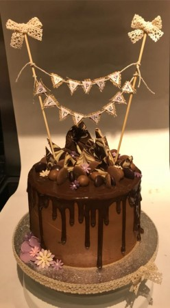 Happy Birthday Chocoate Drip Cake