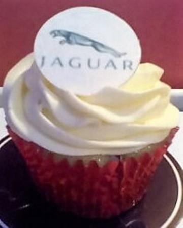 Jaguar car cupcakes- corporate cupcakes