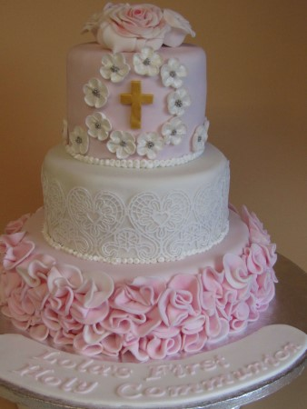 Holly Communion Cake