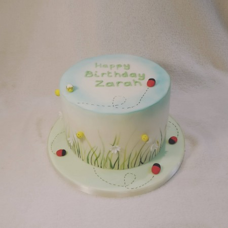 Garden themed cake