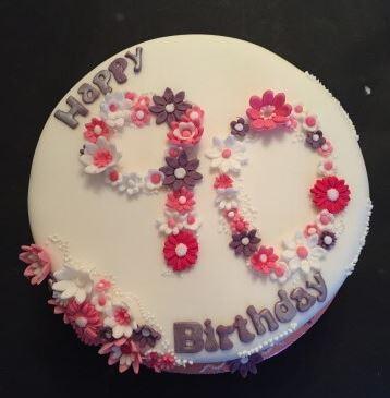 Bespoke- 80th Birthday cake