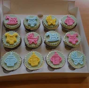 Baby shower cupcakes (eggless)